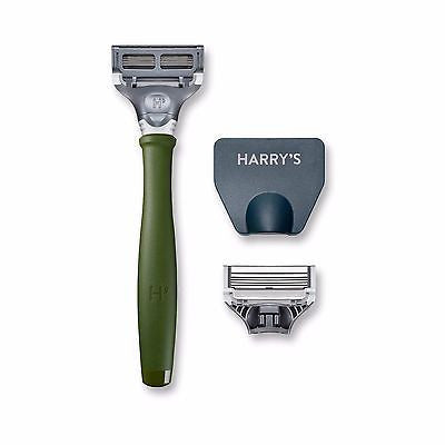 Harry's Men's Razor with 2 Razor Blades - Forest Green - MyTravelPaQ  - 1