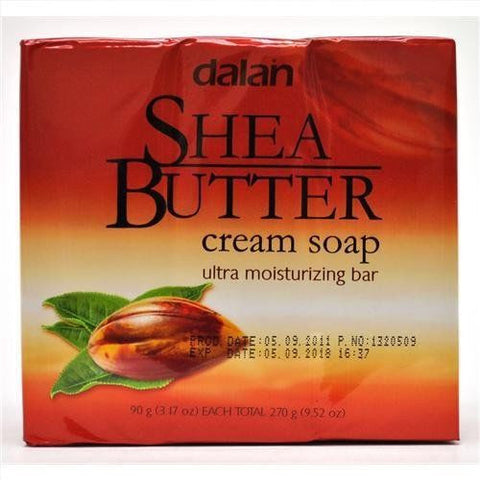 3-Pack Dalan Shea Butter Cream Soap Ultra Moisturizing Bar 270g