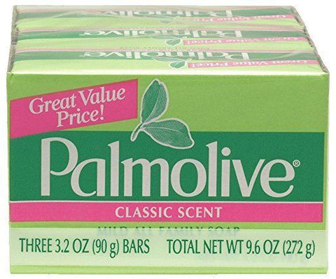 3 Count Palmolive Bath Soap Bars Mild All Fmily Classic Scent 3.2 Oz