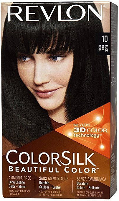 Colorsilk Permanent Haircolor 10 Black, 2 pack