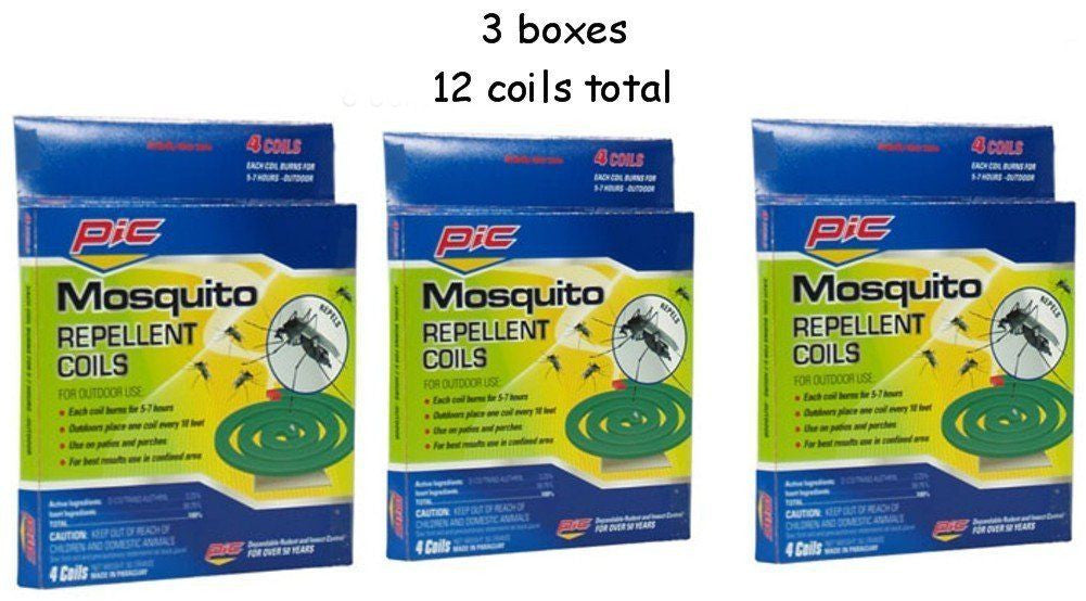 3 Boxes Pic Mosquito Repellent Coils Outdoor Use Total 12 Coils