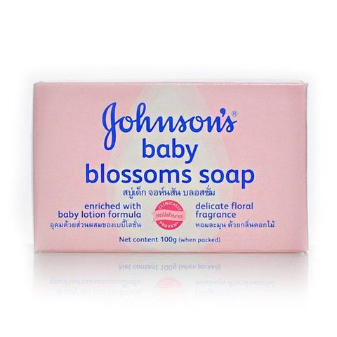 10 Pack - Johnson's Baby Soap Blossoms-100gm Each - 10ct