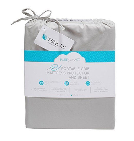 Playard Mattress Pad and Sheet in one - made with All Natural TENCEL