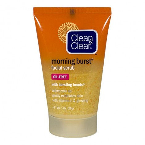 Clean & Clear Morning Burst Facial Scrub, 1.0 oz. - MyTravelPaQ