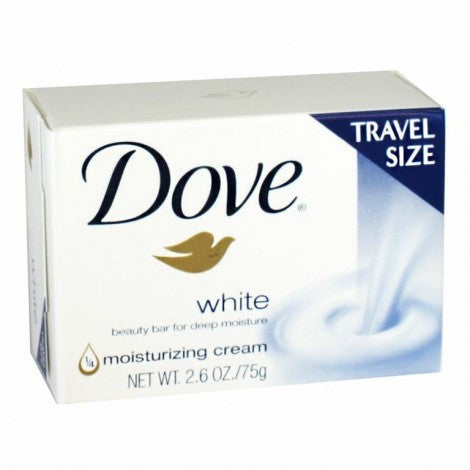 Dove White Beauty Soap Bar, 2.6 oz. - MyTravelPaQ