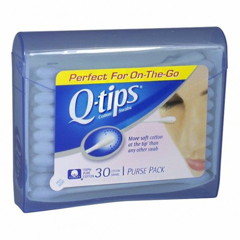 Q-Tips Purse Pack Swabs, 30 Count - MyTravelPaQ