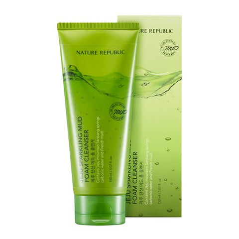 Nature Republic Jeju Sparkling Mud Foam Cleanser, 150ml - MyTravelPaQ