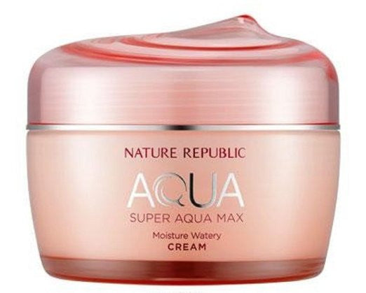Nature Republic Super Aqua Max Watery Cream, 80ml - MyTravelPaQ