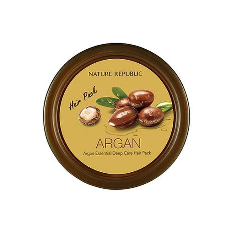 Nature Republic Argan Essential Deep Care Hair Pack - MyTravelPaQ  - 1