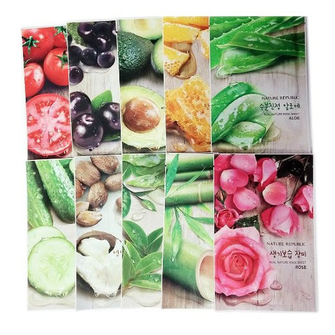 Nature Republic Real Nature Mask Sheet 10pcs Original Korean Mask Sheet - MyTravelPaQ