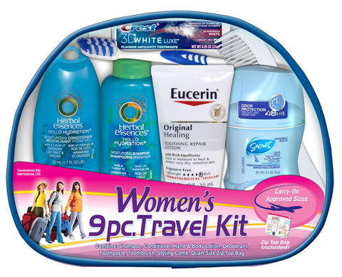 Women's 9 Piece Travel kit - MyTravelPaQ