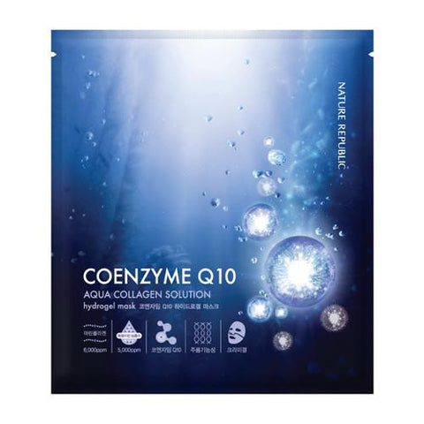 Aqua Collagen Solution Coenzyme Q10 Hydrogel Mask - MyTravelPaQ