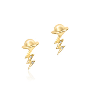 Planet Meets Lightning Bolt Earring - Build Your Own