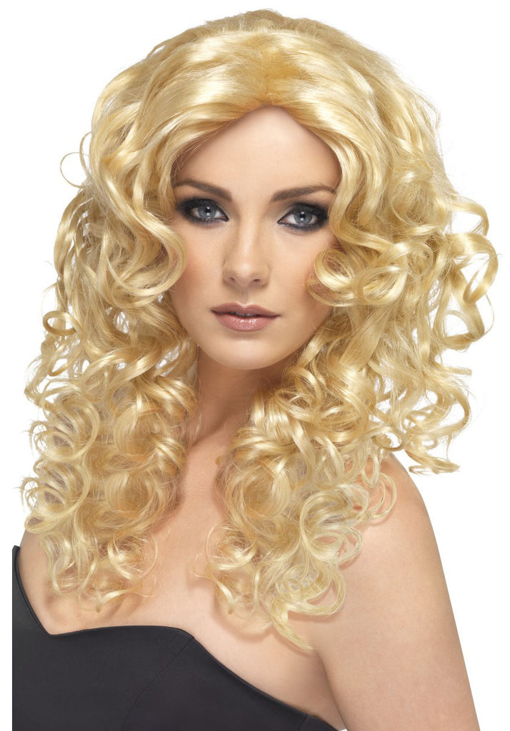 Blonde Curly Glamour Wig