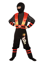 Children's Fire Dragon Ninja Costume