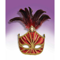 Red Feather Masquerade Mask