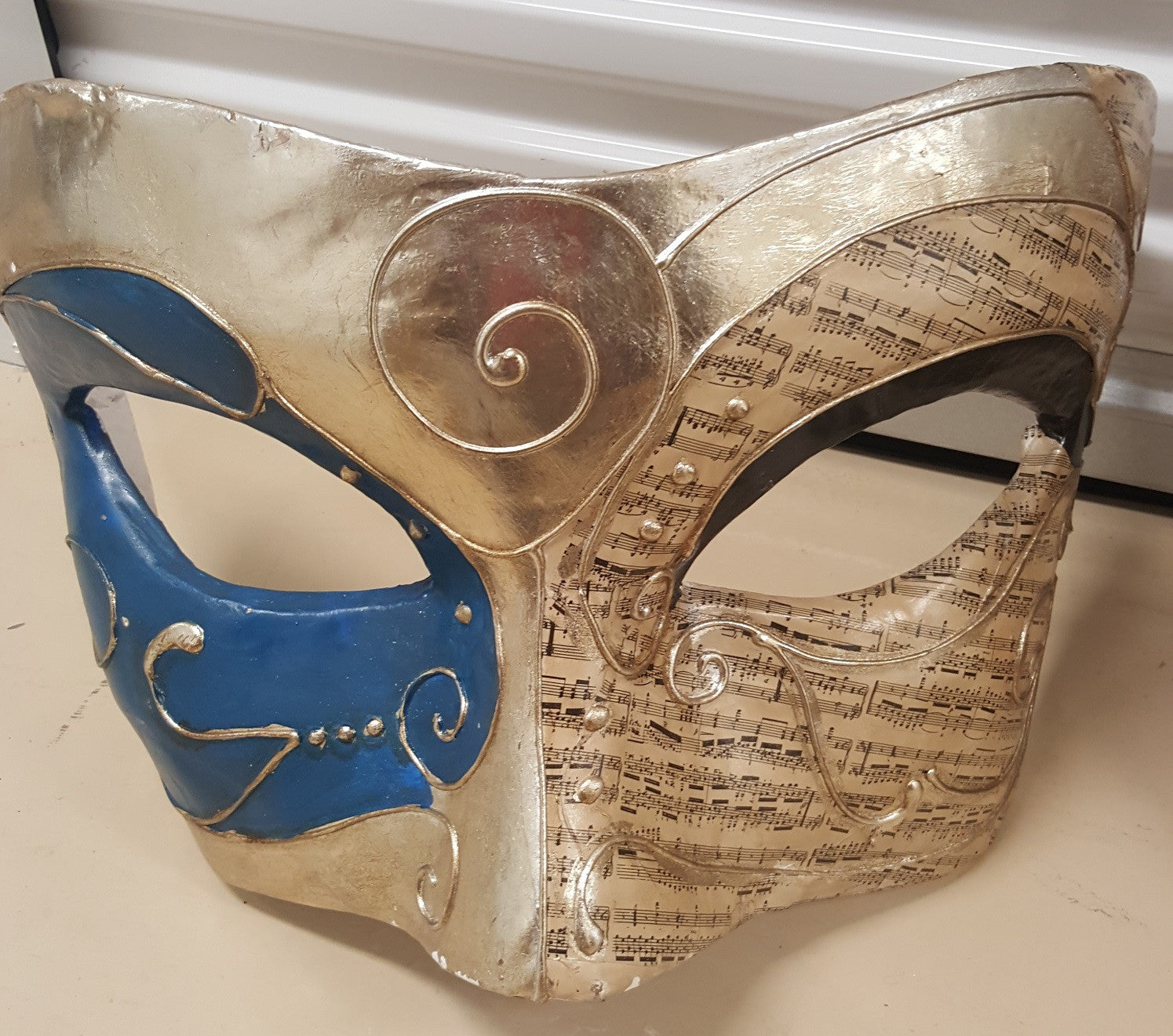 Large Blue Masquerade Mask Wall Decor Ripstershalloweenshop Ca
