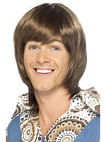70's Heartthrob Brown Wig