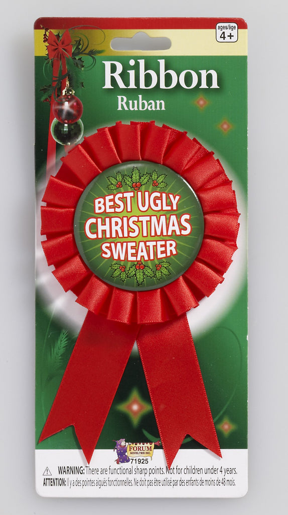 Award Ribbon for Ugliest Christmas Sweater