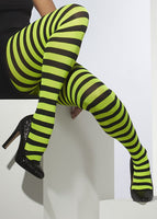 Black And Green Stripes Pantyhose