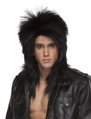 Black Long Rocker Wig