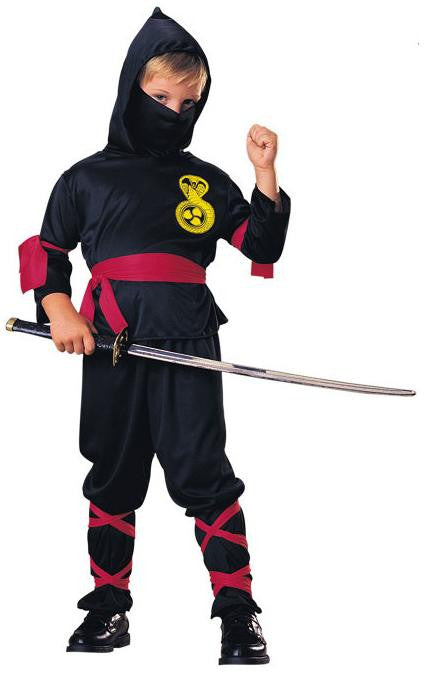 Kid's Black Ninja Costume