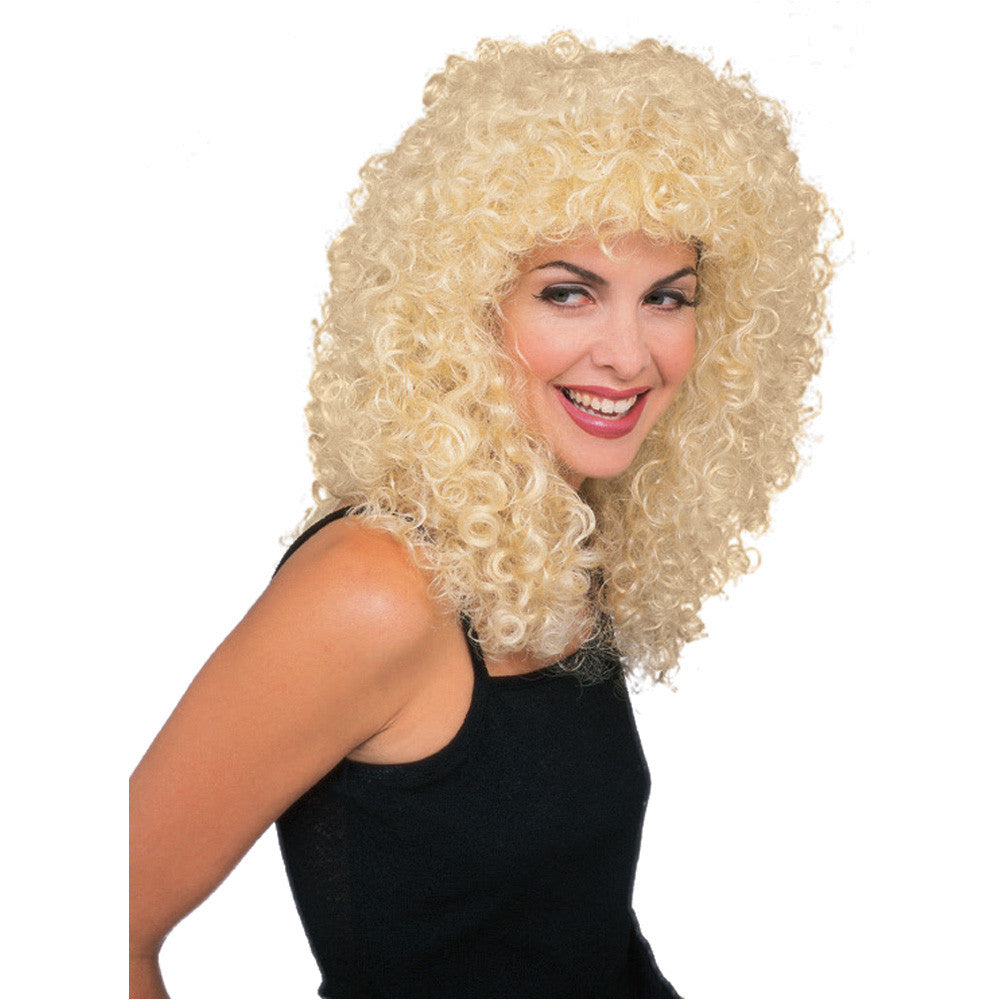 Blonde Curly Rock Star Wig