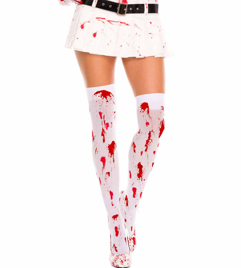 Bloody Opaque Thigh High