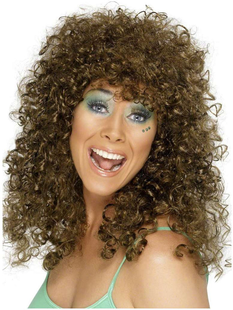 Boogie Babe Curly Brown Wig
