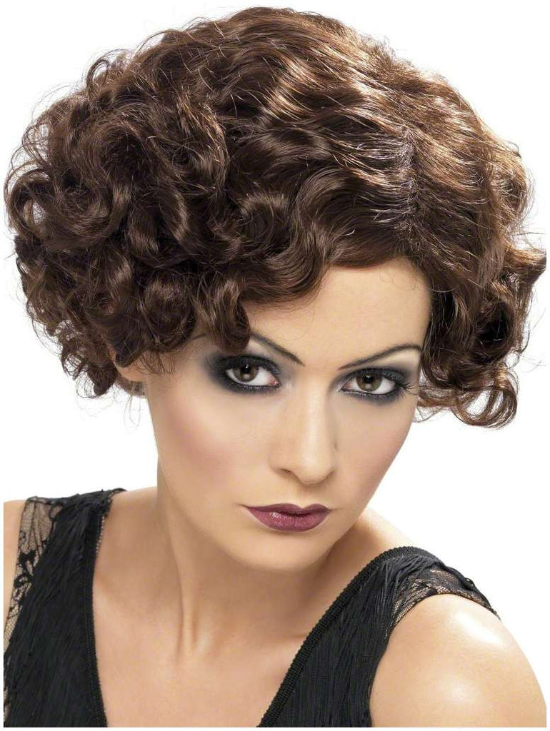 20's Brown Flirty Flapper Wig