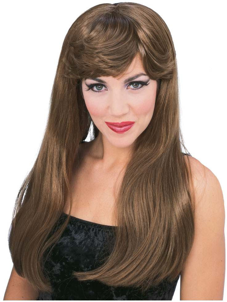 Brown Long Glamour Wig