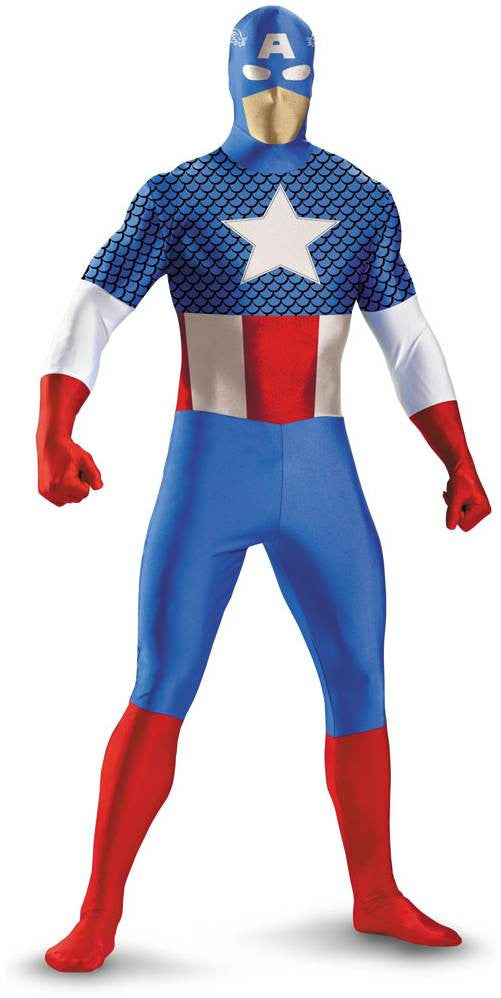 Kid's Captain America Morphsuit Costume