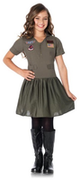 Children's Flight Dress Top Gun Costume