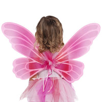 Pink and White Fairy Wings