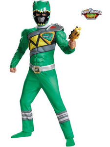 Children's Green Power Ranger Dino Charge Muscle Costume