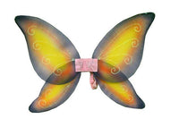 Yellow with Pink and Purple accented Fairy Wings