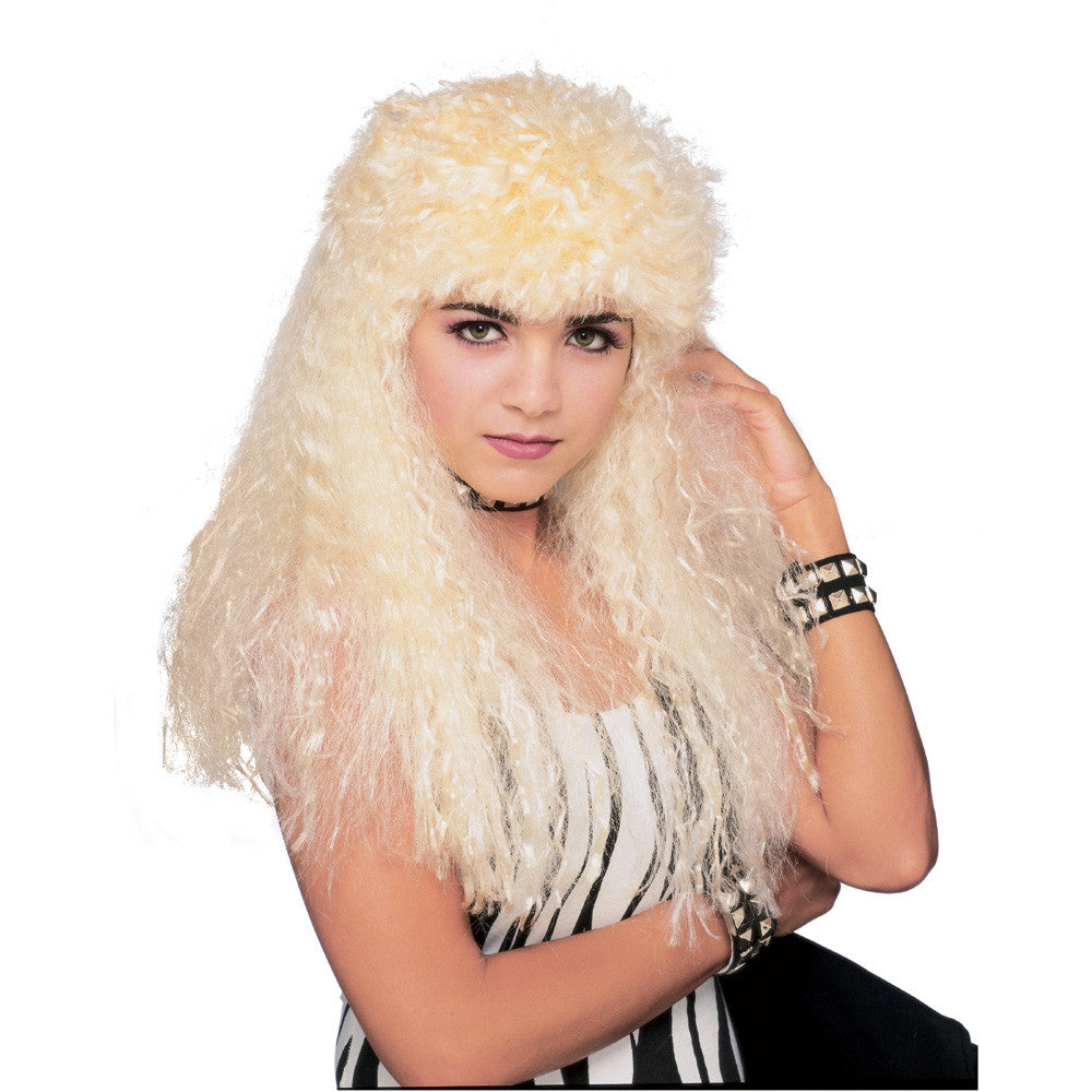 80's Curly Blonde Rock Star Wig