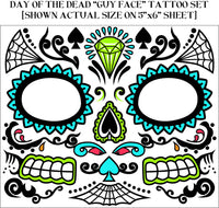 Day Of The Dead Tattoo Male Face