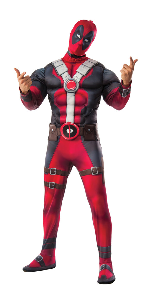 Adult Deluxe Muscle Chest Deadpool Costume