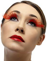 Diamante Red Eyelashes