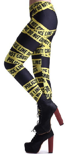 Police Line Do Not Cross Leggings