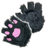 Black Paws Fingerless Gloves