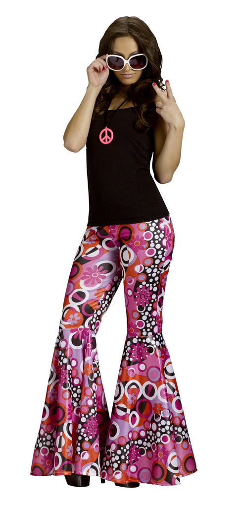 60's Flower Power Bell Bottom Pants