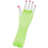Lime Green Fingerless Gloves