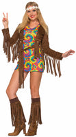 Adult 1960's Hippie Shimmy Mini Dress Costume