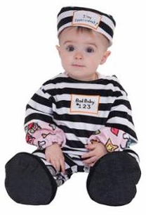 Infant Lil' Law Breaker Prisoner Jailbird Costume