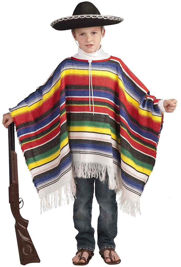 Children's Mexican Poncho Costume