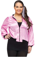 Plus Size 50's Pink Lady Satin Jacket