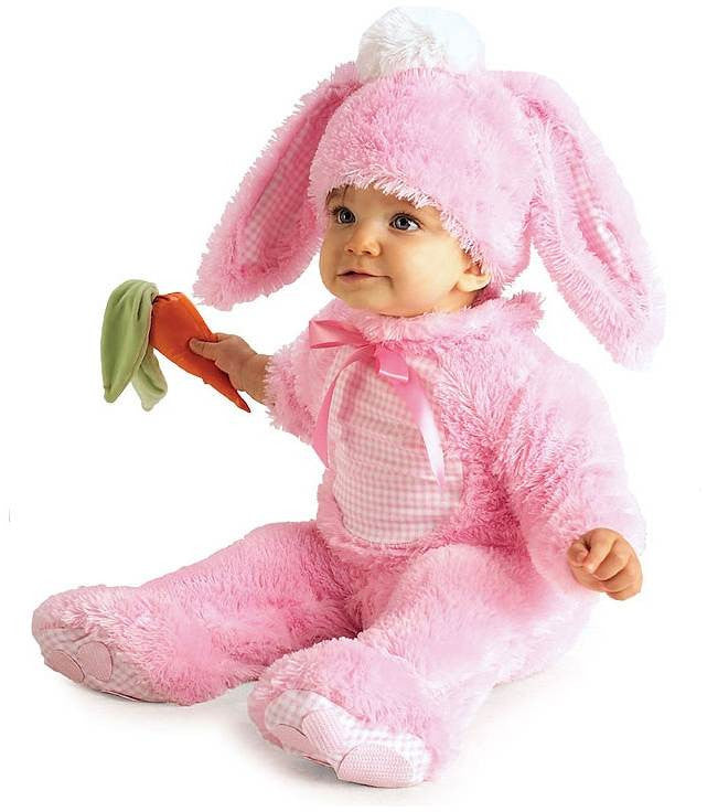 Infant Precious Pink Rabbit Costume