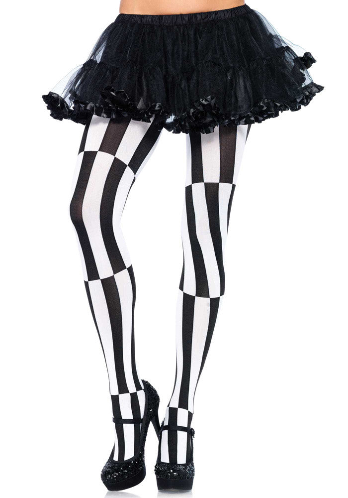 Black and White Optical Illusion Pantyhose